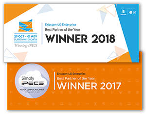 Ericsson-LG Best Partner 2017 and 2018 Awards