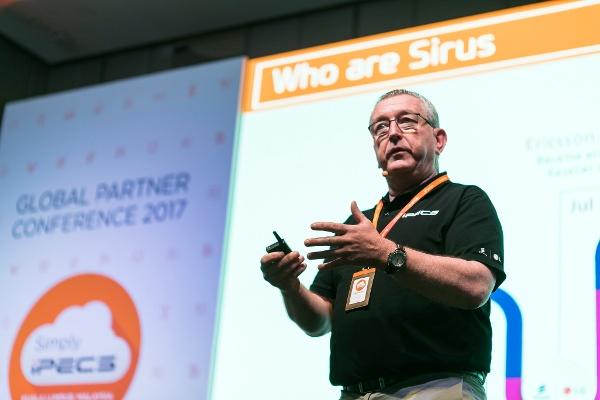 Sirus MD John Fitzpatrick speaks at the 2017 Ericsson-LG Enterprise GPC