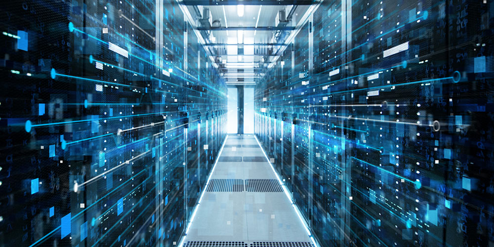 server room in the sky