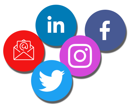 Social Media icon in circles